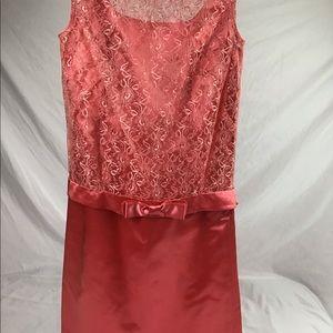 1960s handmade satin dress.